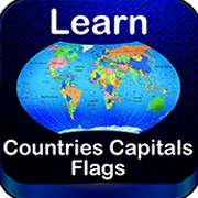 World map Capitals Flags
