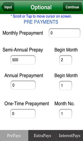 mortgage calculator prepayments and extra payments and interest payments