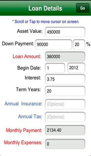 calculate a mortgage loan