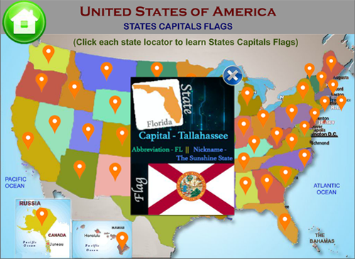 Learn United States Of America Map Puzzles Quiz History States - Map of united states with capitals