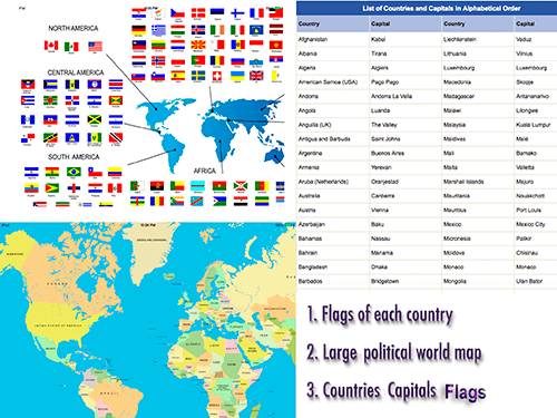 World Pro Countries Capitals Flags